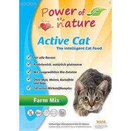 Power of Nature Active Cat Farm Mix - kurczak, łosoś, jagnięcina i brązowy ryż 2 kg