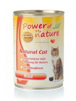 Power of Nature Natural Cat - wołowina puszka 400g