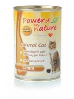Power of Nature Natural Cat - jagnięcina puszka 400g